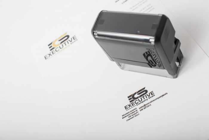 Photo of Self-Inking Custom Engraved Rubber Stamp